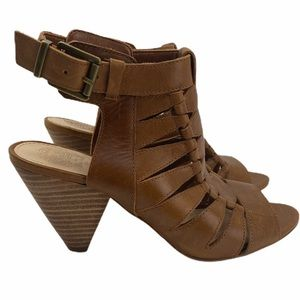 Vince Camuto Elika Totally Toffee Leather Heels